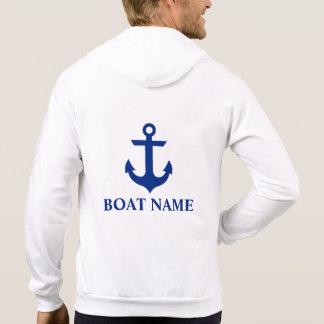 Sweat - shirt à capuche blanc de bateau de l'ancre