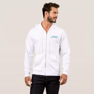 Sweat - shirt à capuche blanc de fermeture éclair