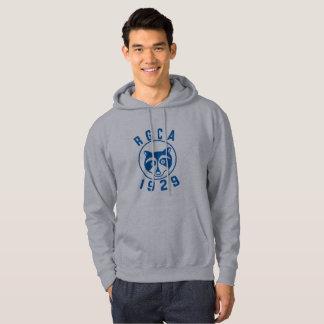 Sweat - shirt à capuche bleu de logo de RGCA
