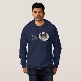 Sweat - shirt à capuche bleu de Merle Sheltie de