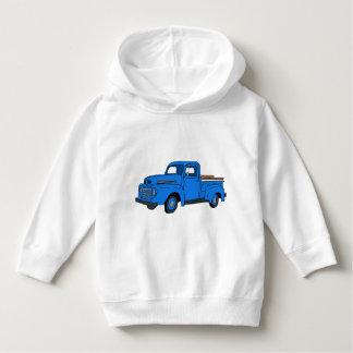 Sweat - shirt à capuche bleu vintage de camion