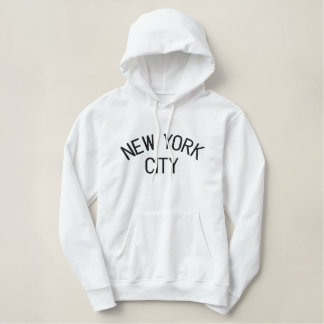 Sweat - shirt à capuche brodé de dames de NEW YORK Sweatshirt Avec Capuche Brodé