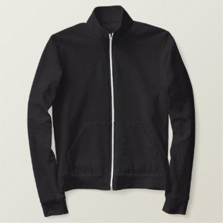 Sweat - shirt à capuche brodé de fermeture éclair vestes brodées