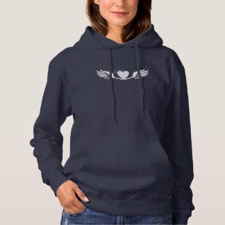 Sweat - shirt à capuche d'aile d'amour de dames