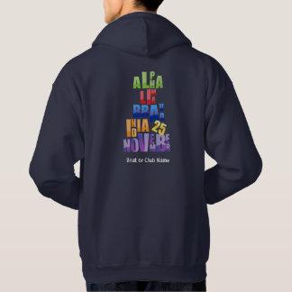 Sweat - shirt à capuche d'alphabet phonétique
