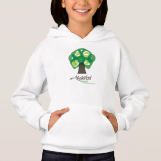 Sweat - shirt à capuche d'arbre des filles MSCU