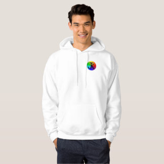 Sweat - shirt à capuche de blanc de logo de roue