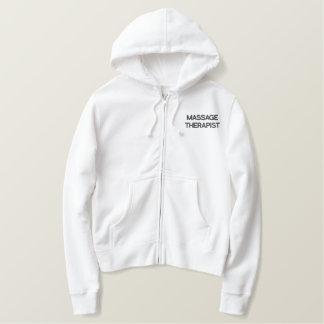 Sweat - shirt à capuche de blanc de THÉRAPEUTE de