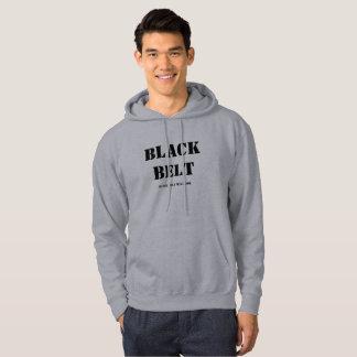 Sweat - shirt à capuche de ceinture noire