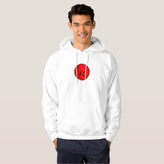 Sweat - shirt à capuche de coup de bouton rouge