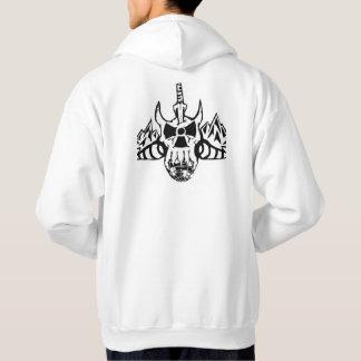 Sweat - shirt à capuche de crâne de logo