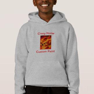 Sweat - shirt à capuche de crâne du feu d'enfants