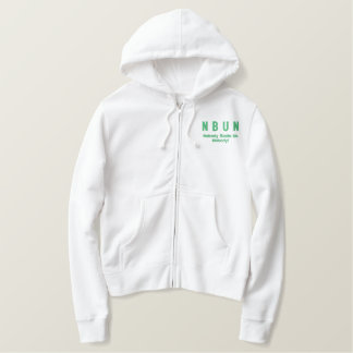 Sweat - shirt à capuche de dames de NBUN Sweat-shirt Avec Broderie