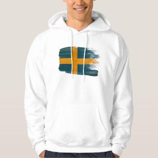Sweat - shirt à capuche de drapeau de la Suède