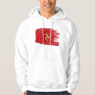 Sweat - shirt à capuche de drapeau d'île de Man Pulls Avec Capuche