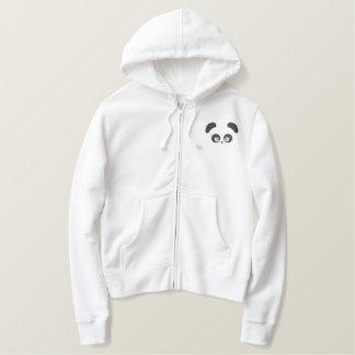 Sweat - shirt à capuche de fermeture éclair de sweatshirt à capuche brodé
