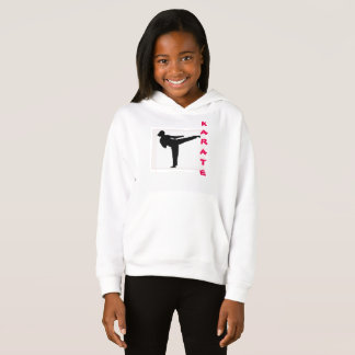 Sweat - shirt à capuche de fille de karaté