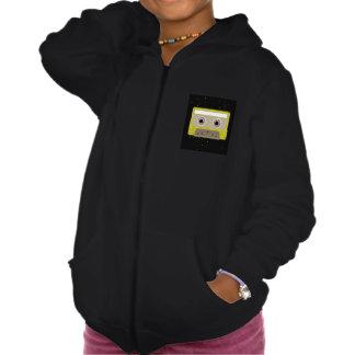 Sweat - shirt à capuche de filles de cassette de sweatshirt à capuche
