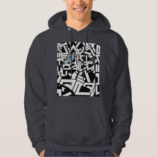 Sweat - shirt à capuche de graffiti de