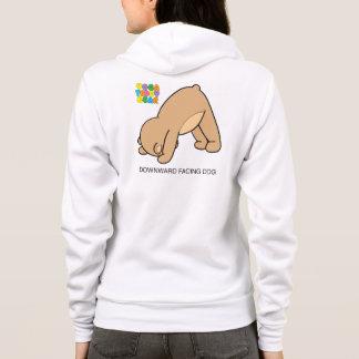 Sweat - shirt à capuche de haut en bas de chien