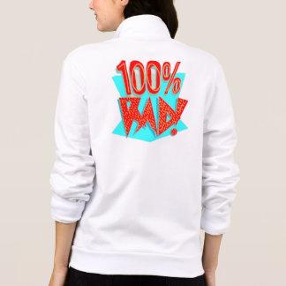 Sweat - shirt à capuche de la fermeture éclair des veste imprimée