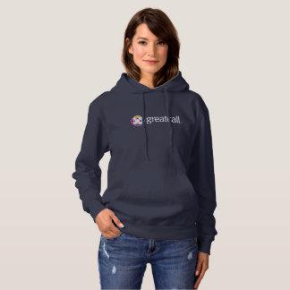 Sweat - shirt à capuche de la marine des femmes