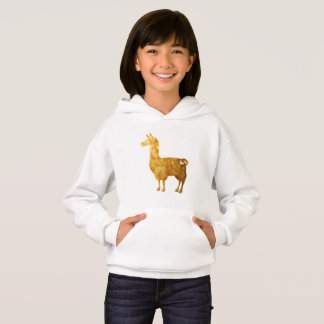 Sweat - shirt à capuche de lama d'or