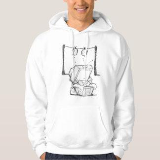 Sweat - shirt à capuche de lavage de cerveau de TV