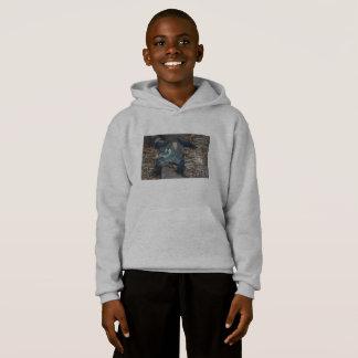Sweat - shirt à capuche de lézard de moniteur