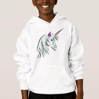 Sweat - shirt à capuche de licorne pour des filles