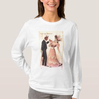 Sweat - shirt à capuche de Long-douille de Krampus