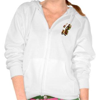 Sweat - shirt à capuche de l'ouatine des femmes de