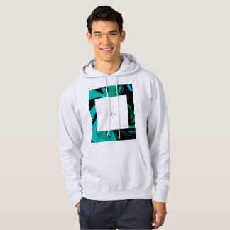 Sweat - shirt à capuche de marbre futuriste de
