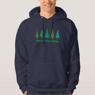 Sweat - shirt à capuche de Noël de sapins