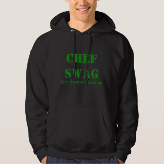 Sweat - shirt à capuche de noir de butin de chef