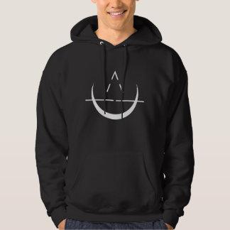 Sweat - shirt à capuche de noir de symbole de lune