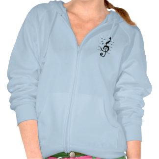 Sweat - shirt à capuche de note musicale de clef t