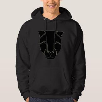 Sweat - shirt à capuche de panthère noire