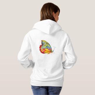 Sweat - shirt à capuche de papillon