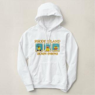 Sweat - shirt à capuche de poussins de plage d'Île