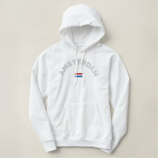 Sweat - shirt à capuche de pull d'Amsterdam - Sweatshirts À Capuche Brodé