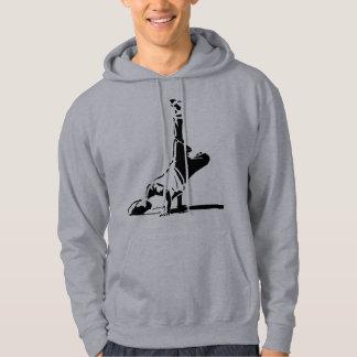 Sweat - shirt à capuche de silhouette de BBoy