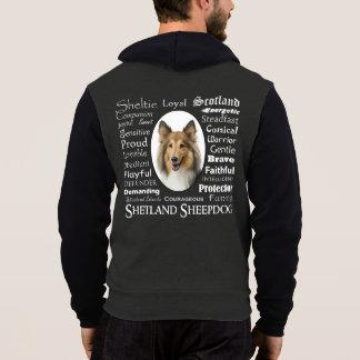 Sweat - shirt à capuche de traits de Sheltie