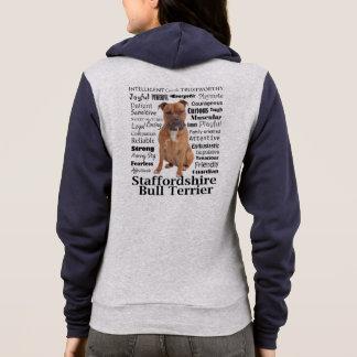 Sweat - shirt à capuche de traits de Staffie