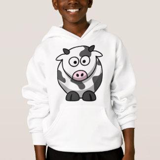 Sweat - shirt à capuche de vache à bande dessinée