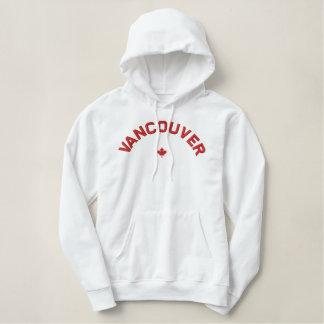 Sweat - shirt à capuche de Vancouver - feuille Sweat-shirt À Capuche Brodé