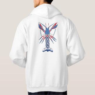 Sweat - shirt à capuche d'écrevisses - art