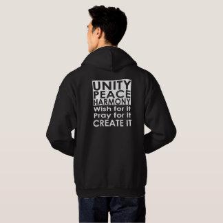 Sweat - shirt à capuche d'harmonie de paix d'unité