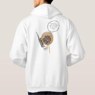 Sweat - shirt à capuche d'hommes blancs du pudding