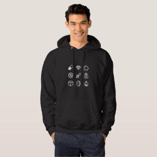 Sweat - shirt à capuche d'icônes d'aventure de